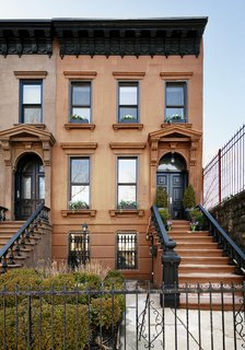 The beautiful four-story brownstone was originally built around 1880 by prolific Stuyvesant Heights builder Charles Isbill.