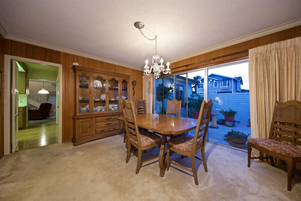 The former dining room was dark and cramped.  Photo 7 of 14 in Before & After: A Contemporary Renovation Brings Coastal Views and Indoor/Outdoor Living