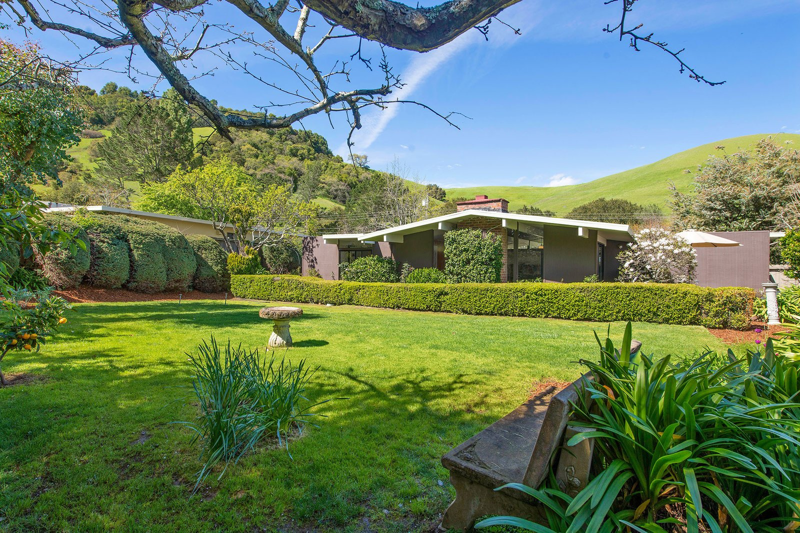 San Rafael Eichler Home backyard