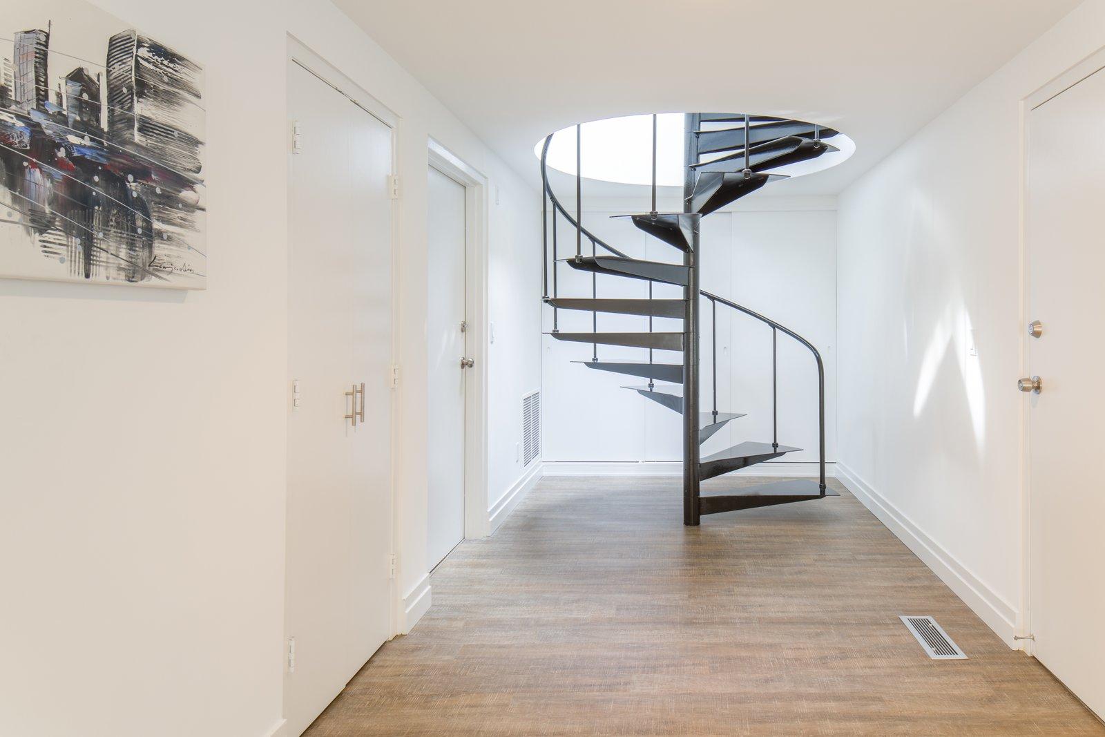 Skidmore, Owings & Merrill midcentury home spiral staircase