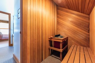 There is also a cedar-lined sauna upstairs.