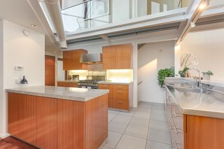 The kitchen features high-end finishes.