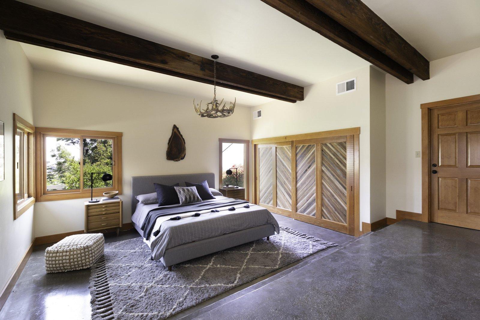 A-frame master bedroom