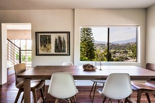 The main house is bright and airy and features an open floor plan.