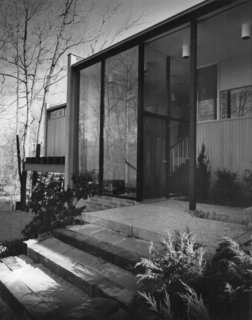 An archival photo shows the facade of The Corwin House shortly after the home was build in the mid-'50s.