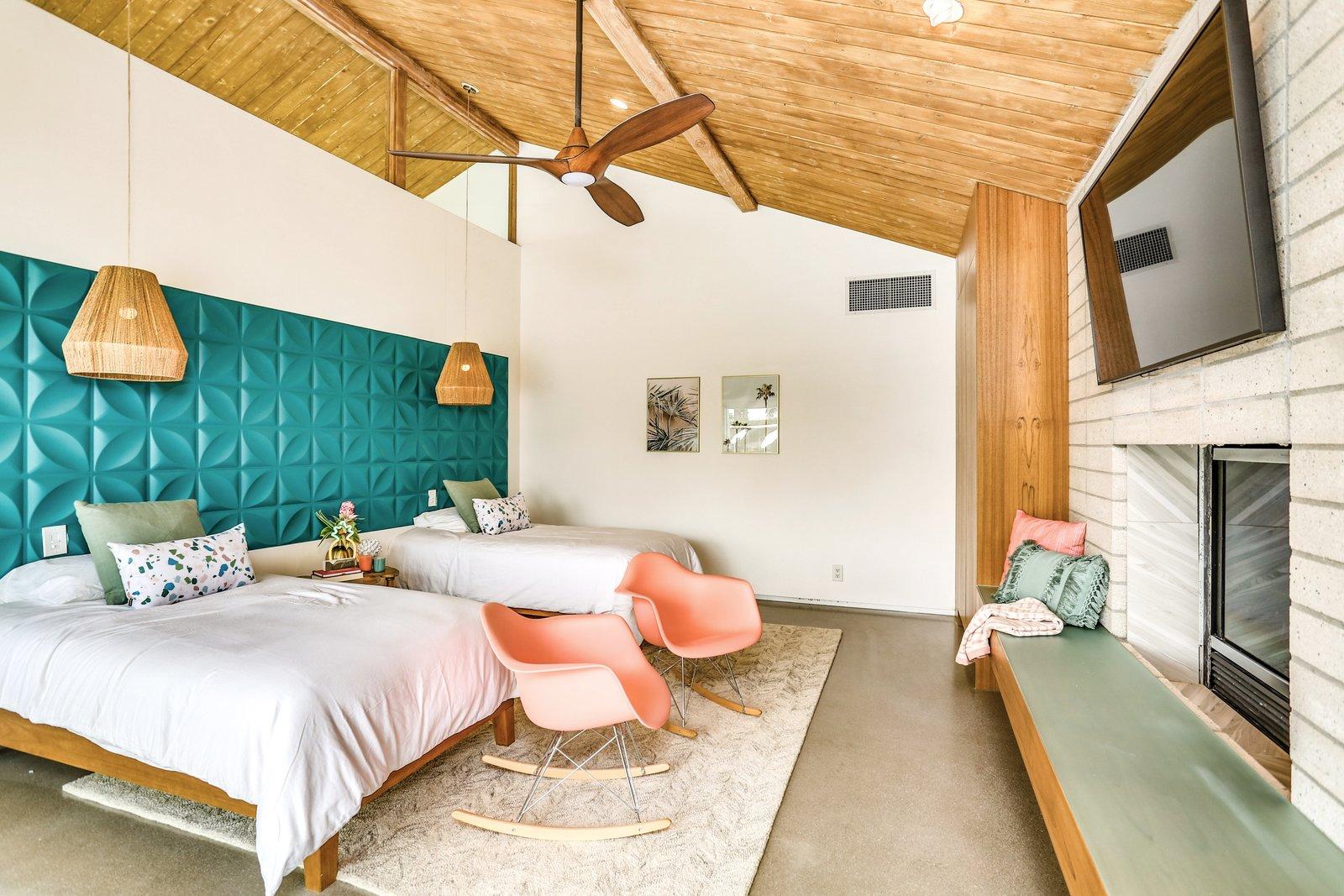 Swiss Miss A-frame bedroom