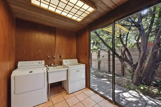 Even the laundry room has a connection to the outdoors.