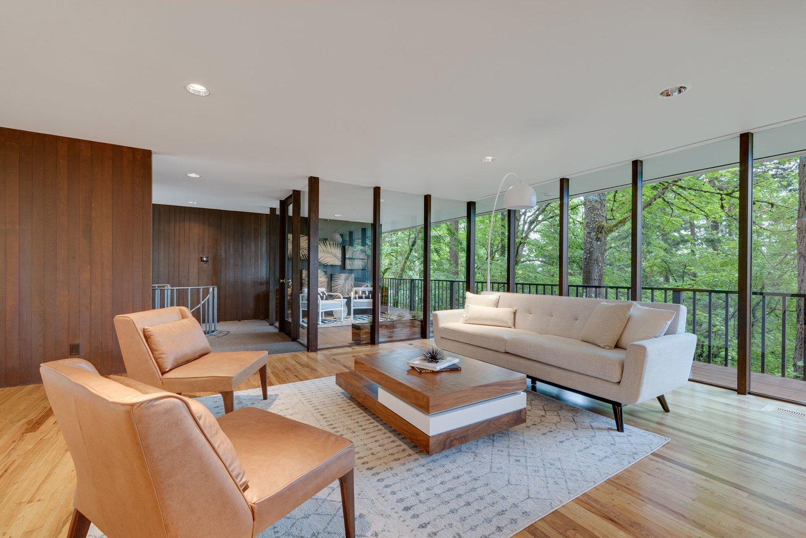 William Fletcher Portland Midcentury Home living room