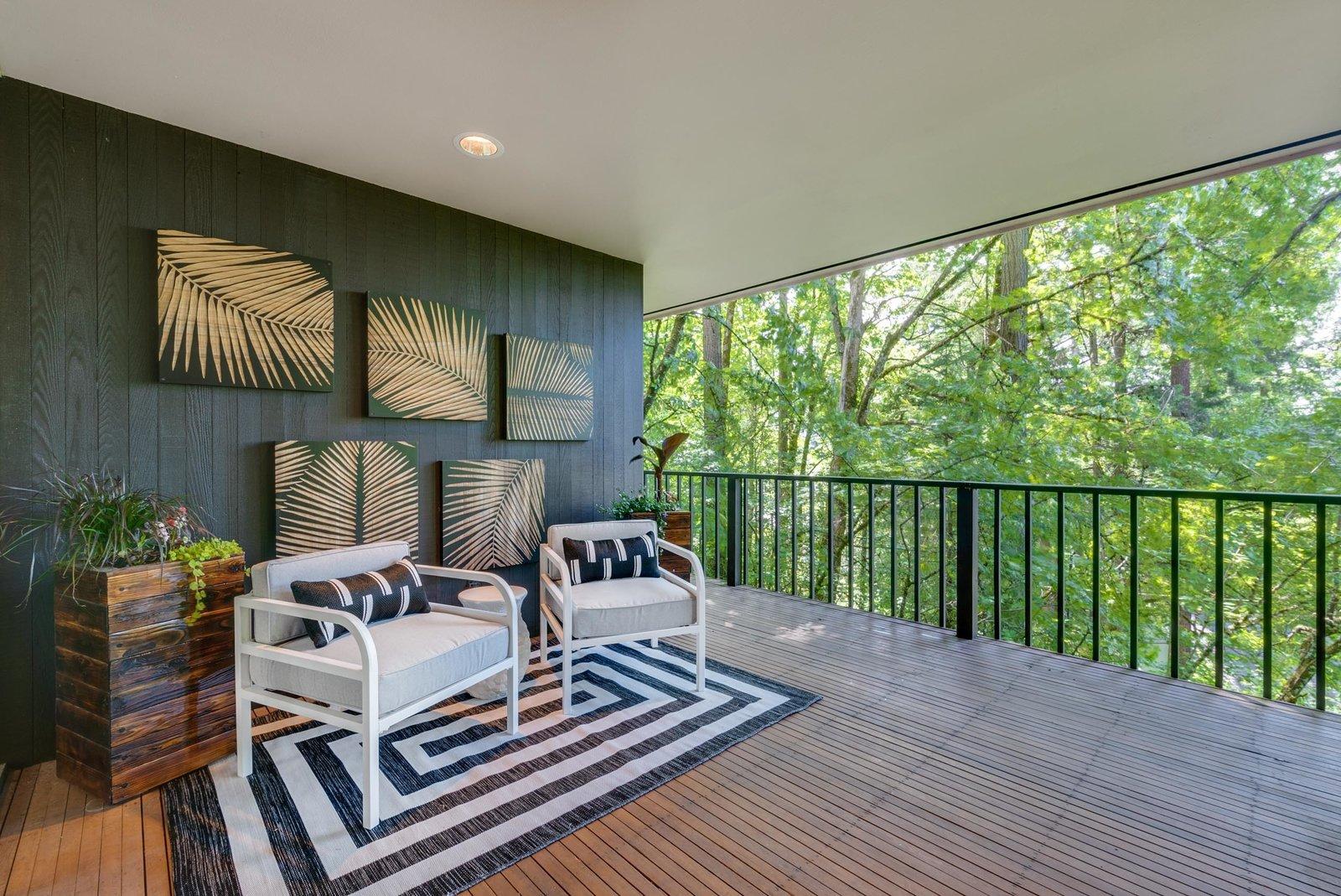 William Fletcher Portland Midcentury Home patio