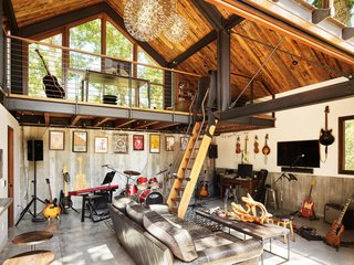 Music is one of the family's passions, and this barn was built with family jam sessions in mind.