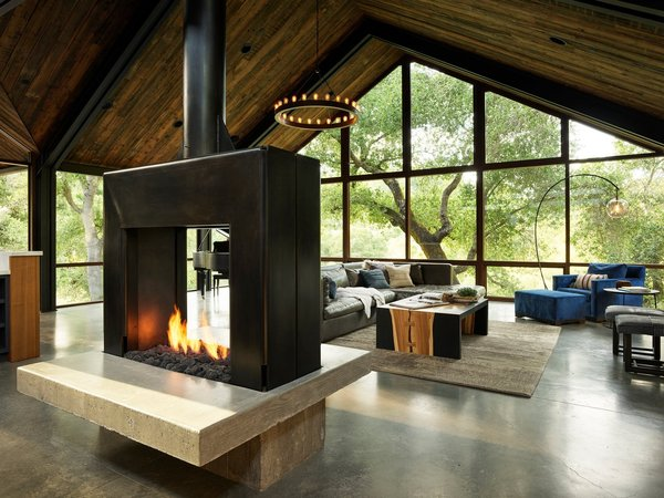 Best 60+ Modern Living Room Two Sided Fireplace Design ...
