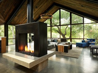 Best 60 Modern Living Room Two Sided Fireplace Design Photos And Dwell