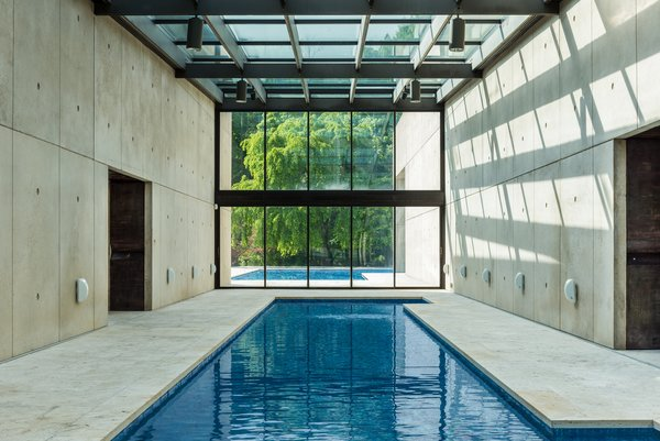 The view from the indoor pool.