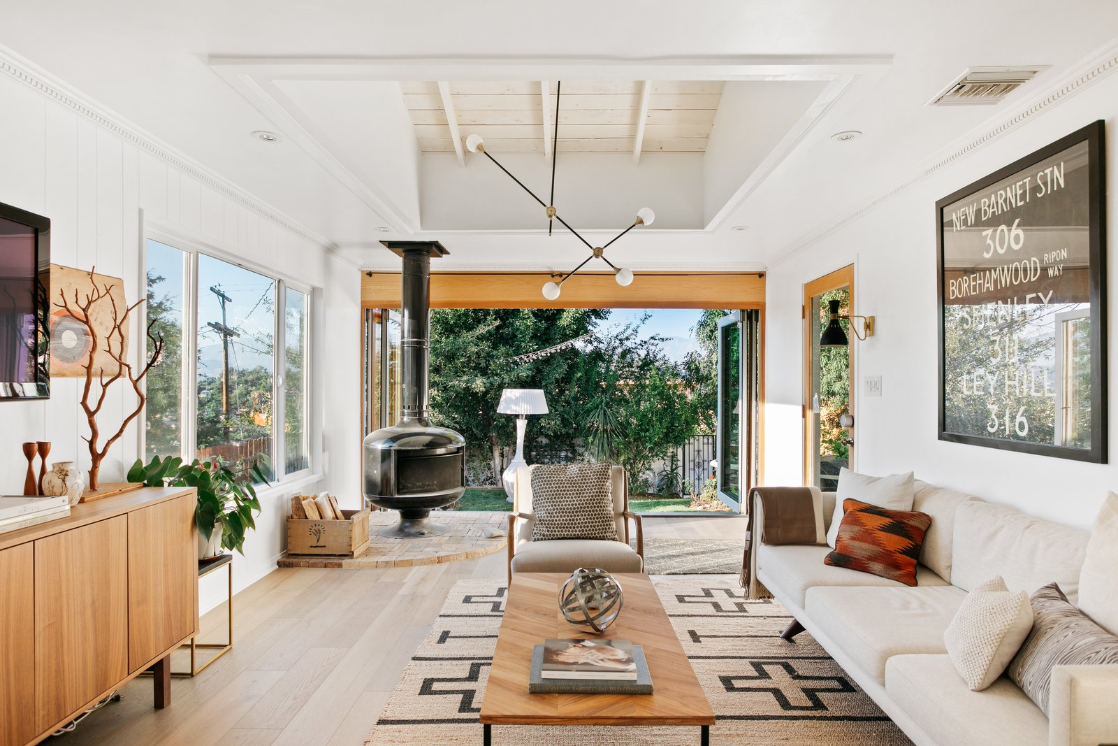 L.A. compound real estate living room