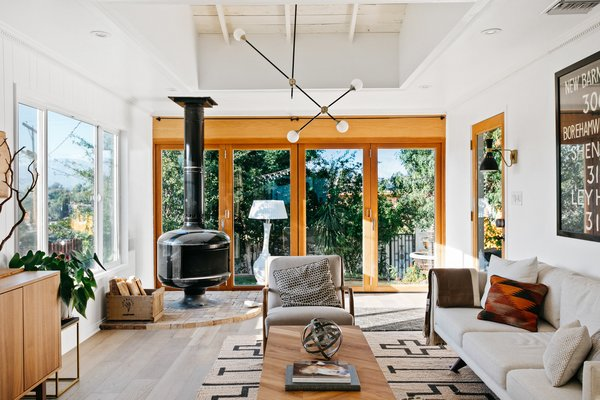 One of the highlights of the home is the glass bi-fold doors, which emphasize the L.A. residents' embrace of indoor-outdoor living.
