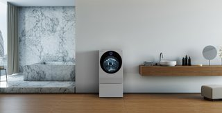 LG SIGNATURE Washer/Dryer Combo (model LUWM101HWA, MSRP: $3,199.99) pairs a sleek design with optimal functionality. The LG SIGNATURE Sidekick Pedestal Washer (model LUWD1CW, MSRP: $799.99) is specially designed for your small, custom-care laundry loads. It can be used on its own or at the same time as the front load washer above.
