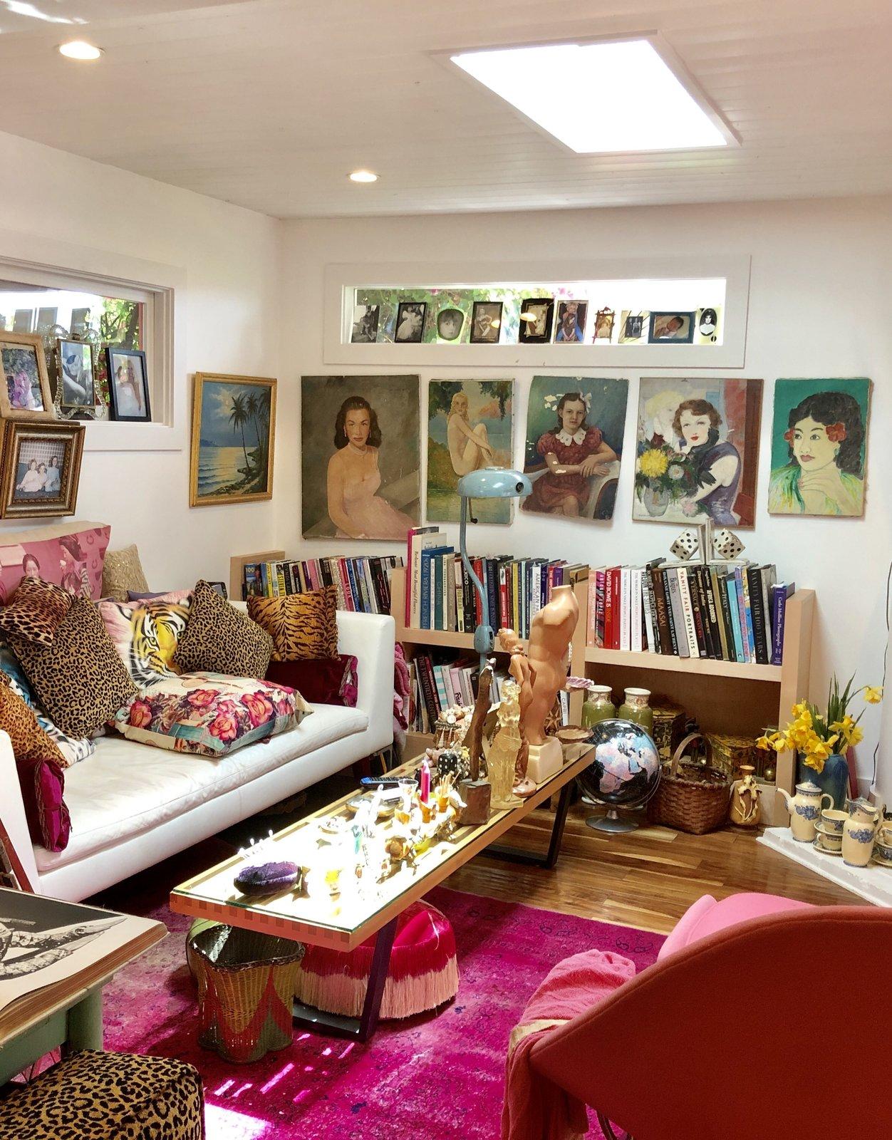 Betsey Johnson Malibu mobile home living room