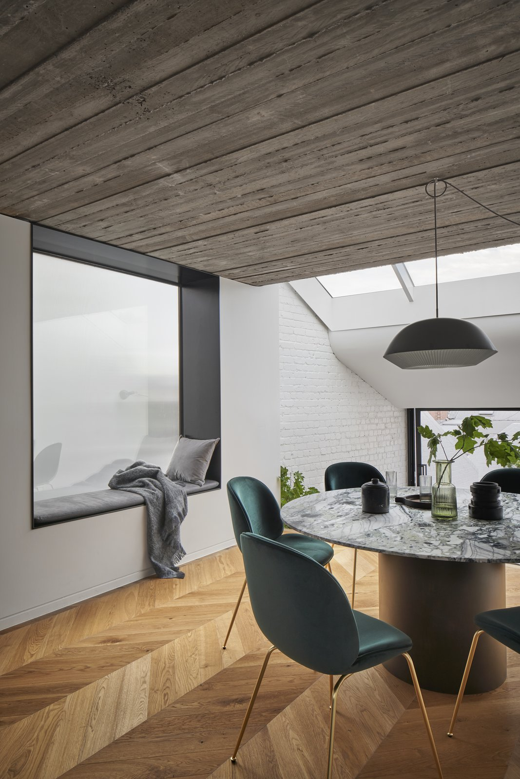 Fitzroy Terrace by Taylor Knights dining table and window nook