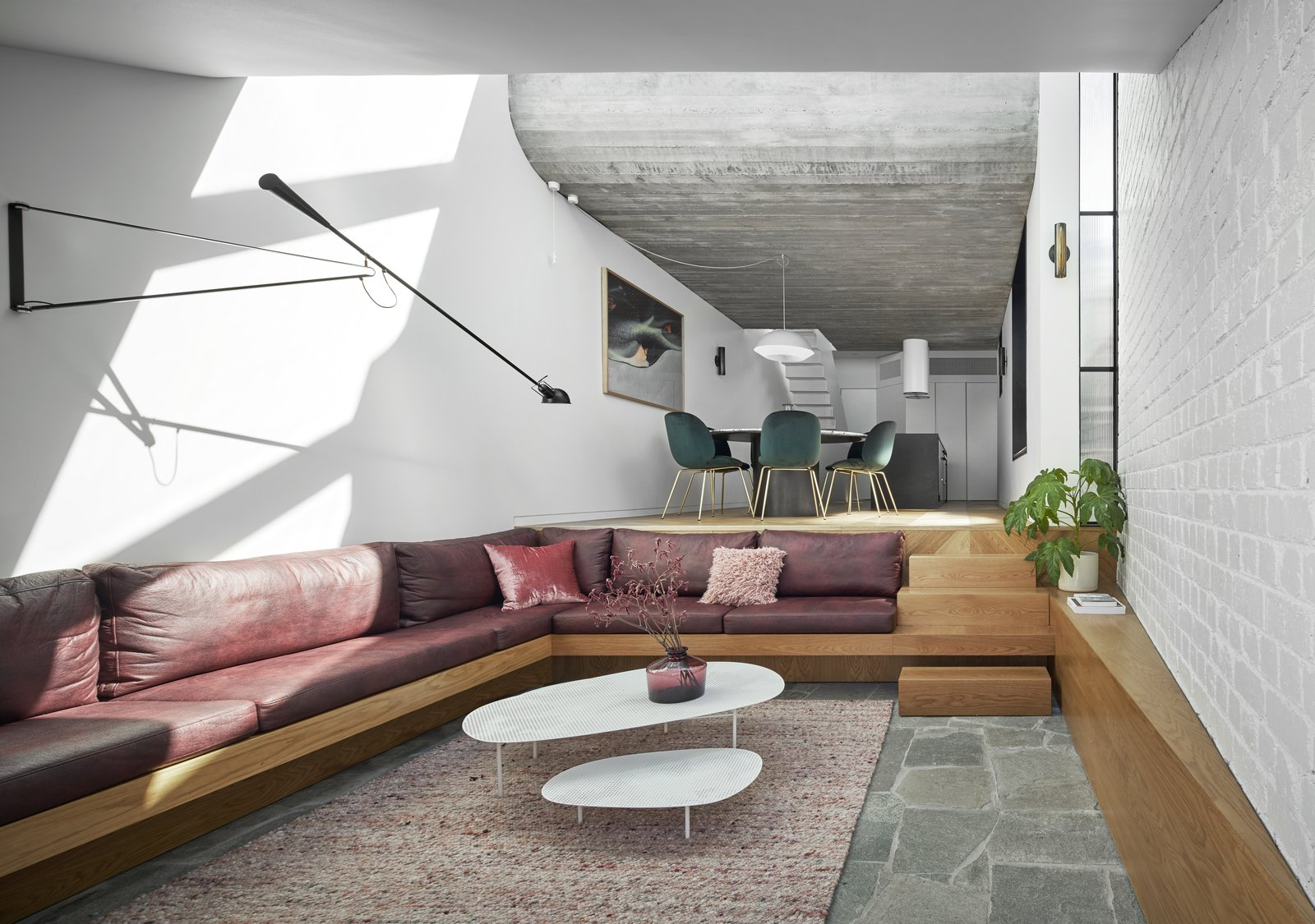 Fitzroy Terrace by Taylor Knights sunken lounge living room