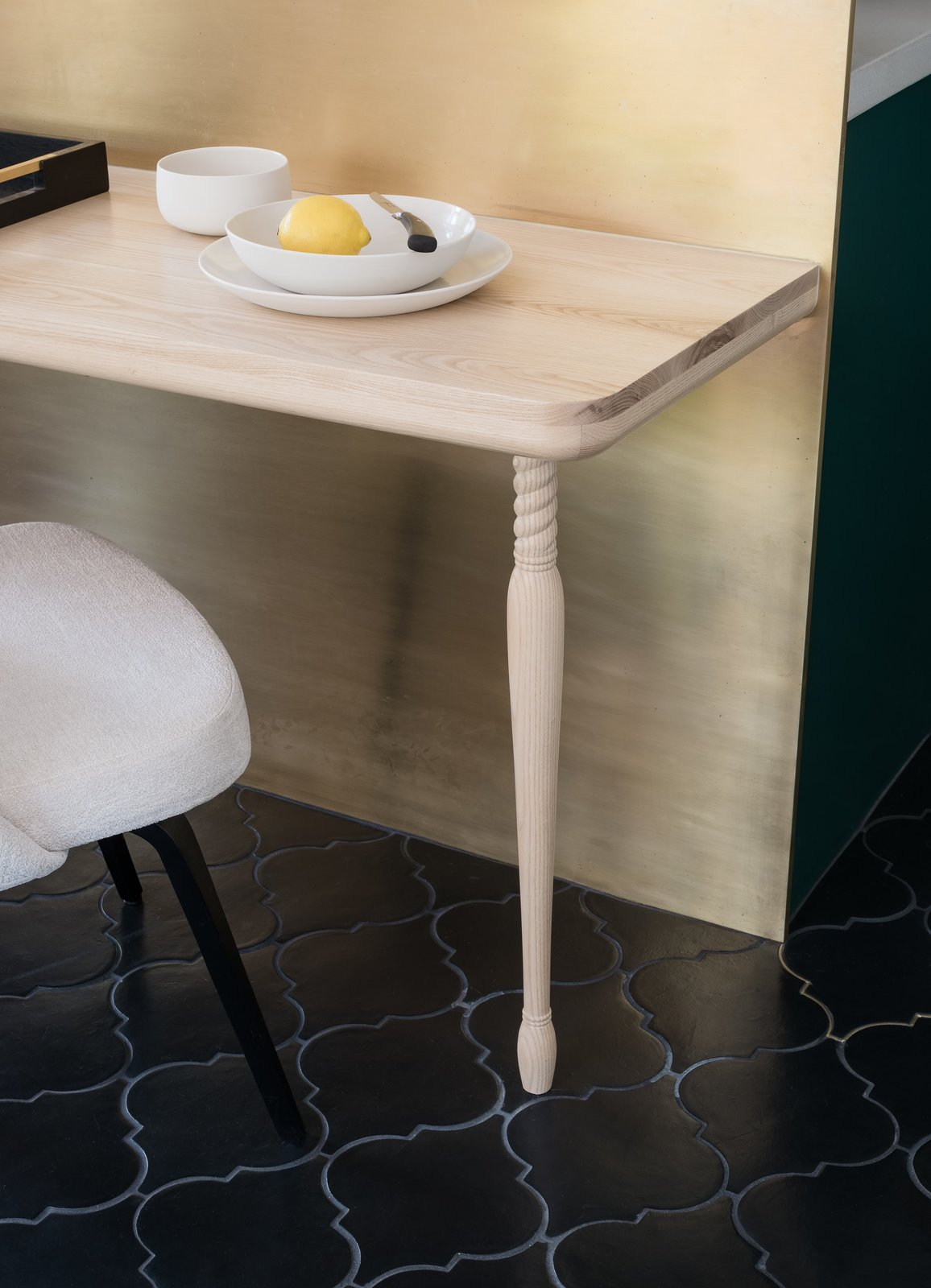 Síol Studios Genesee Residence Kitchen Brass backsplash terra-cotta tiles