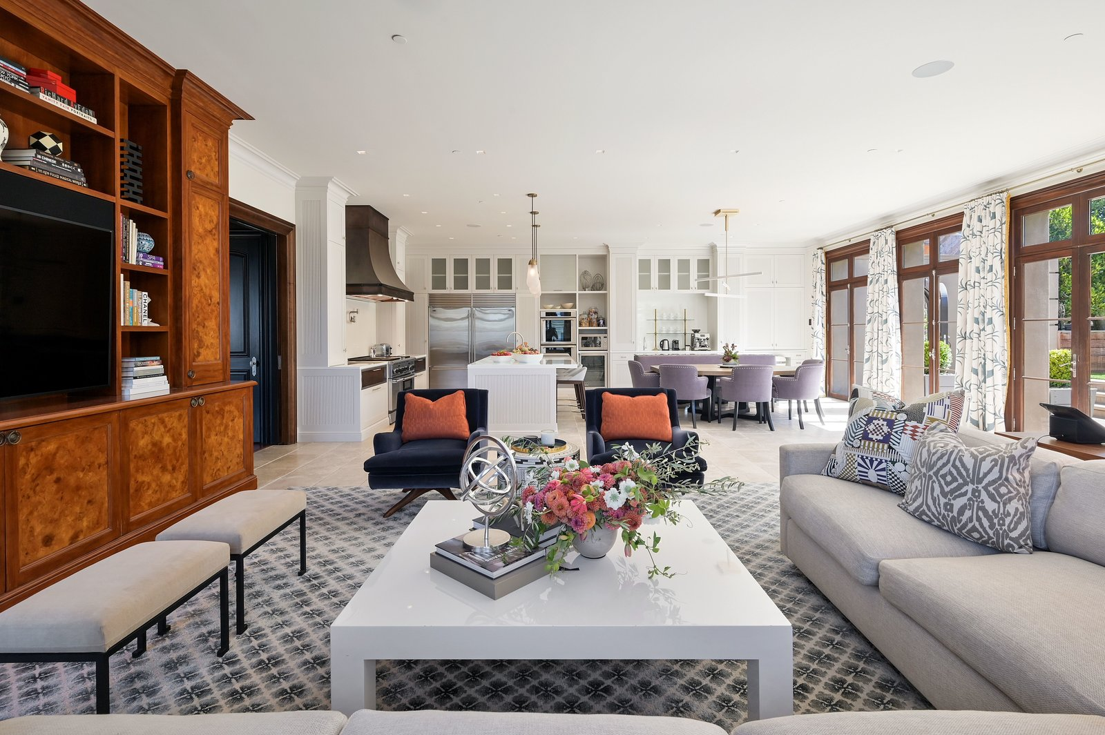 Michael and Xochi Birch 2799 Broadway Pacific Heights mansion great room