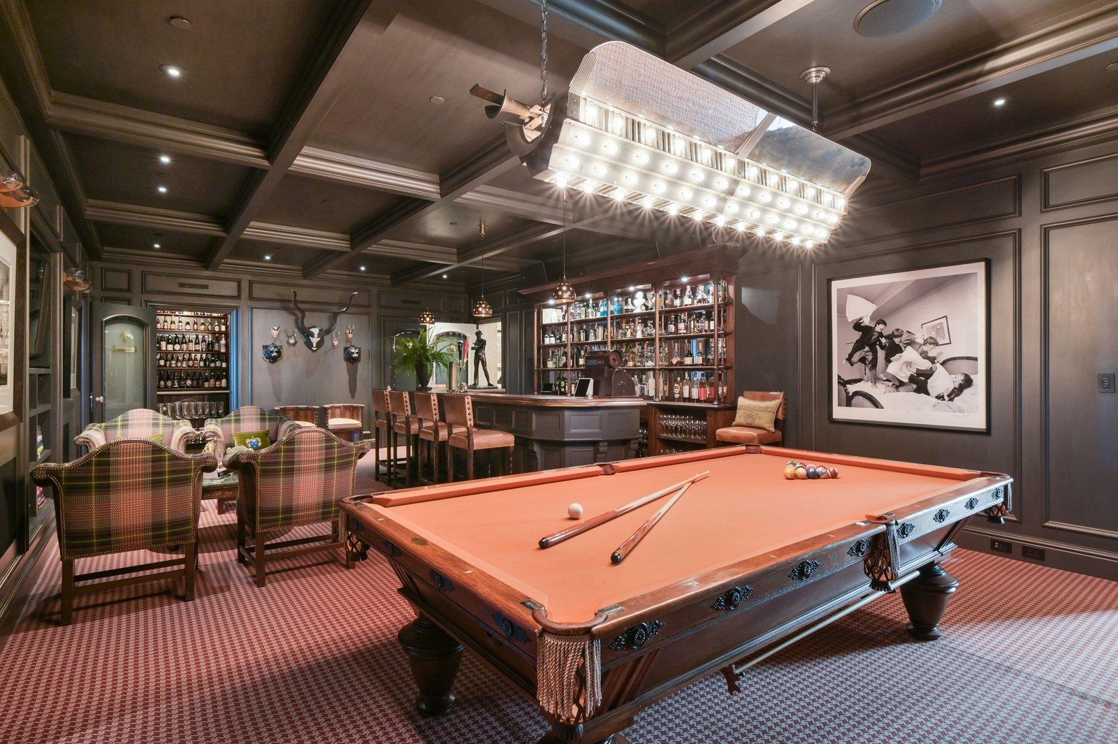 Michael and Xochi Birch 2799 Broadway Pacific Heights mansion British pub bar billiards table