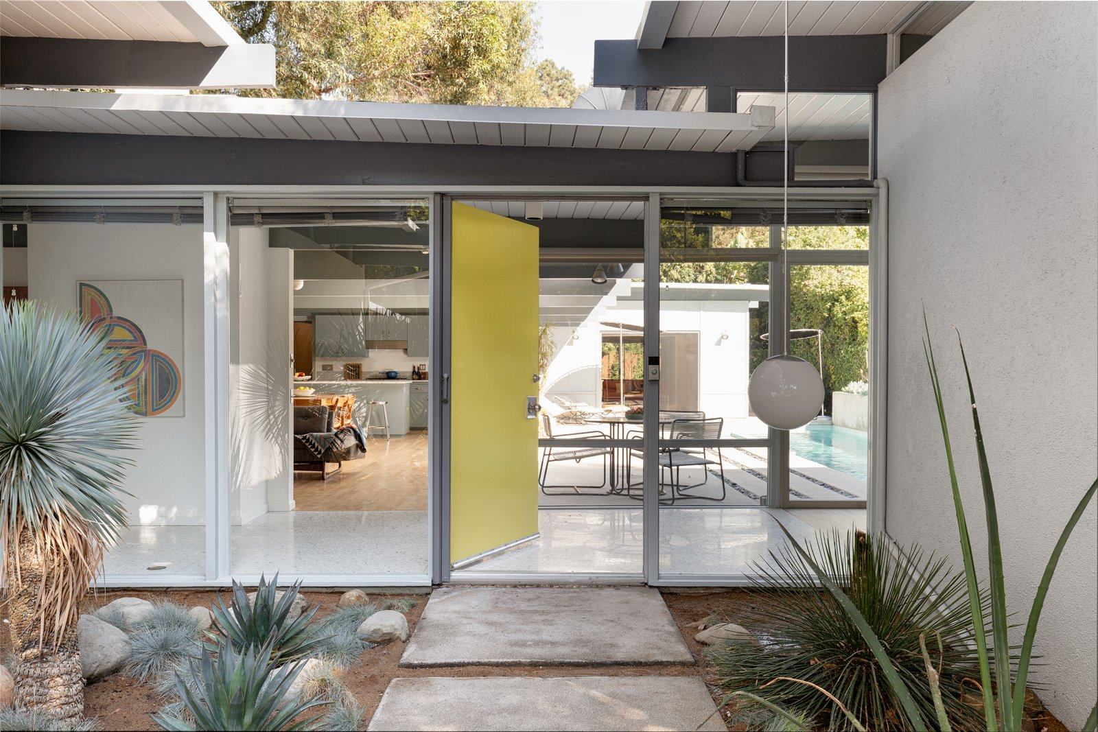 Robert Smith Residence Eugene Weston Douglas Byles Pasadena entryway
