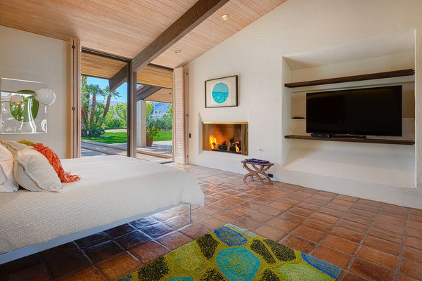 The master bedroom also is the only bedroom with a fireplace.
