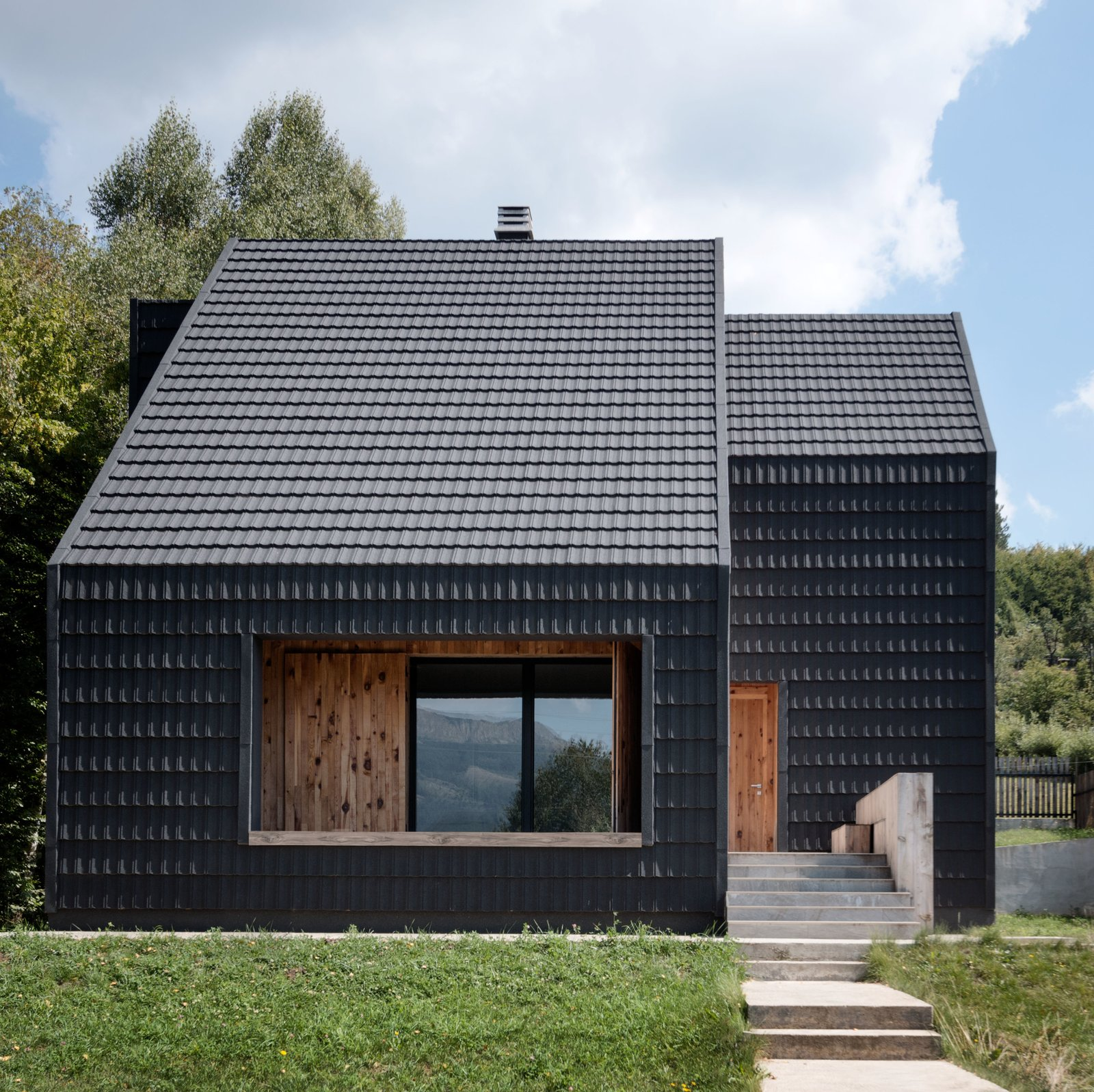 Photo 52 Of 518 In Exterior Metal House Wood Photos From This Haystack Inspired Home In Montenegro Is Sharp As A Tack Dwell