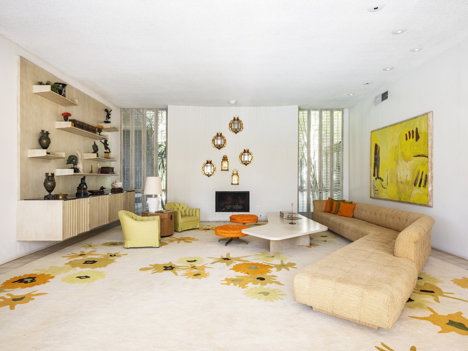 Arthur Elrod Palm Springs Escape House living room