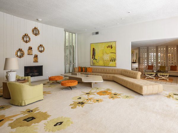 Yellow—one of Elrod's favorite accent colors—plays throughout the home.