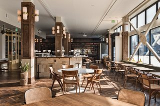 The light-filled lobby has a vintage vibe and centers around Dóttir, an Icelandic-themed restaurant that is open for three meals a day.