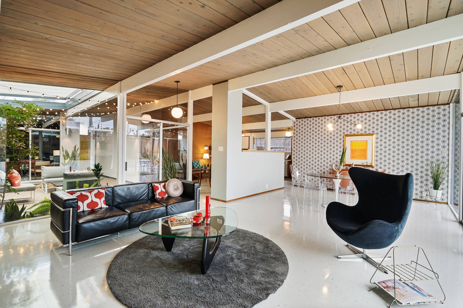 Midcentury Bay Area Eichler living dining