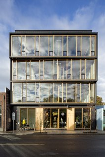 Lever Architecture's office is in Albina Yards, a building in North Portland that the firm also designed.
