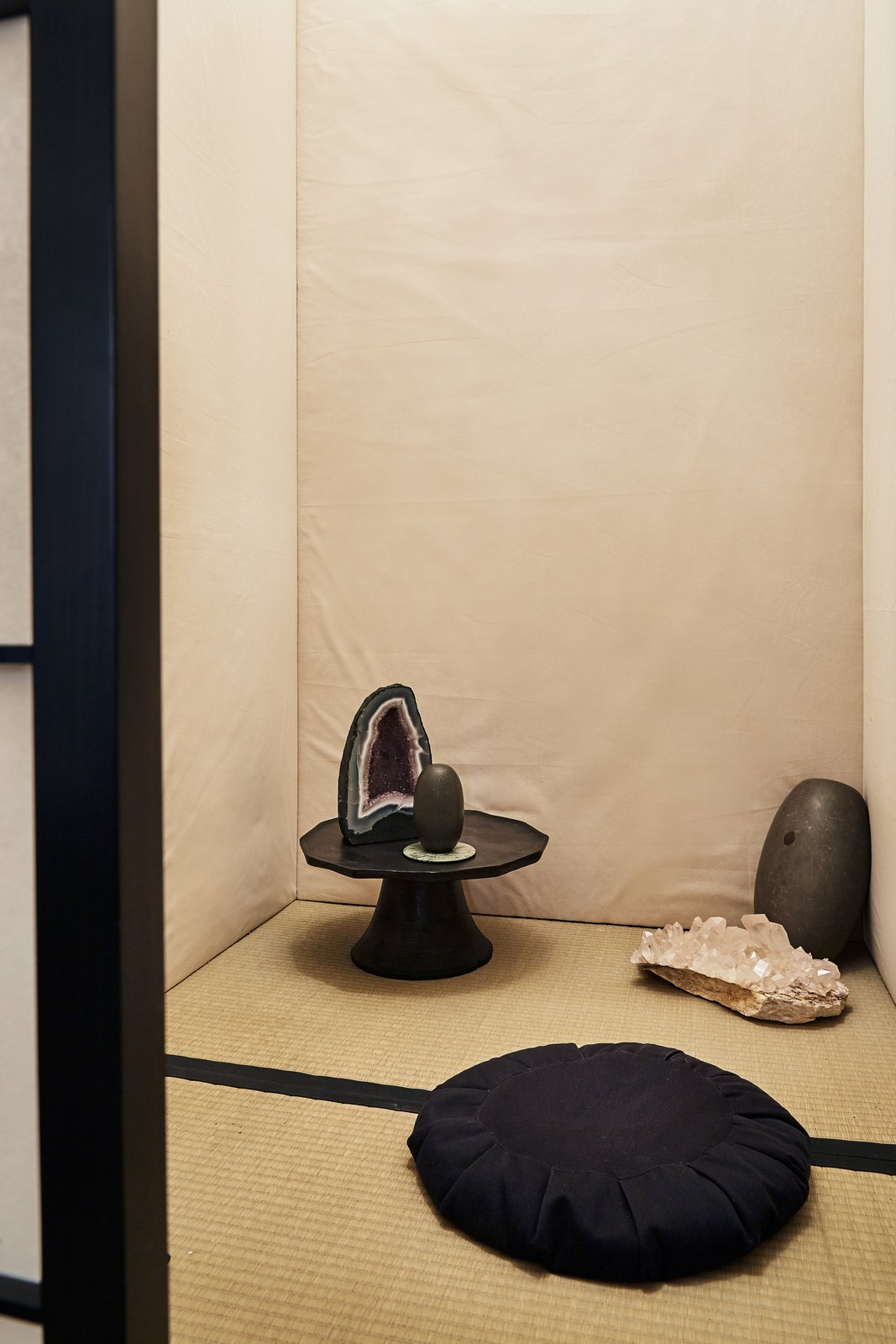 """A look into Reddy's private meditation space in her New York City office. """"I think the open office model, which was on its way out, maybe now be definitely weaned out of most design strategies. Screens and guards that are cleanable will become an addition to cubicles, and I think we will see a healthy cross-pollination of materials generally used in health care design with other sectors, like commercial and hospitality design,"""" she says.  Photo 6 of 16 in Architects and Designers Weigh In on the Future of Work"""