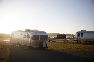 Bay Point Landing's updated Airstreams let you camp in comfort and style.