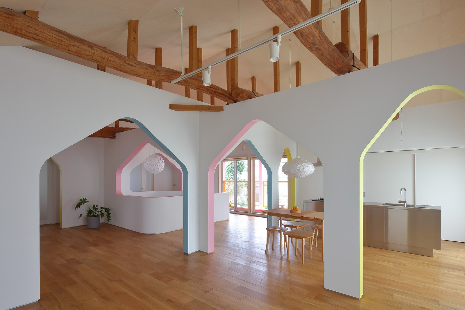 House of Many Arches living area