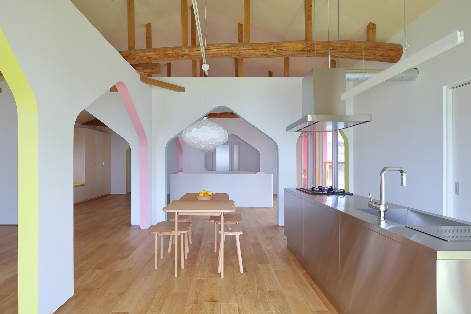 House of Many Arches kitchen