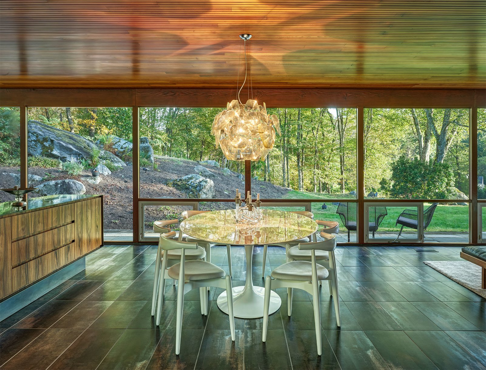Dining Room of the Glen House by Richard Neutra