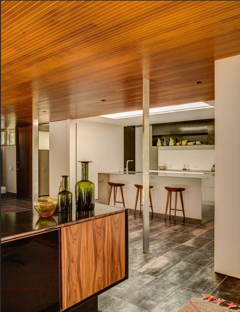 Kitchen of the Glen House by Richard Neutra