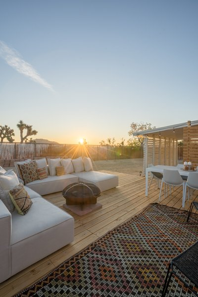Now, the space is perfect for stargazing or taking in the desert views.