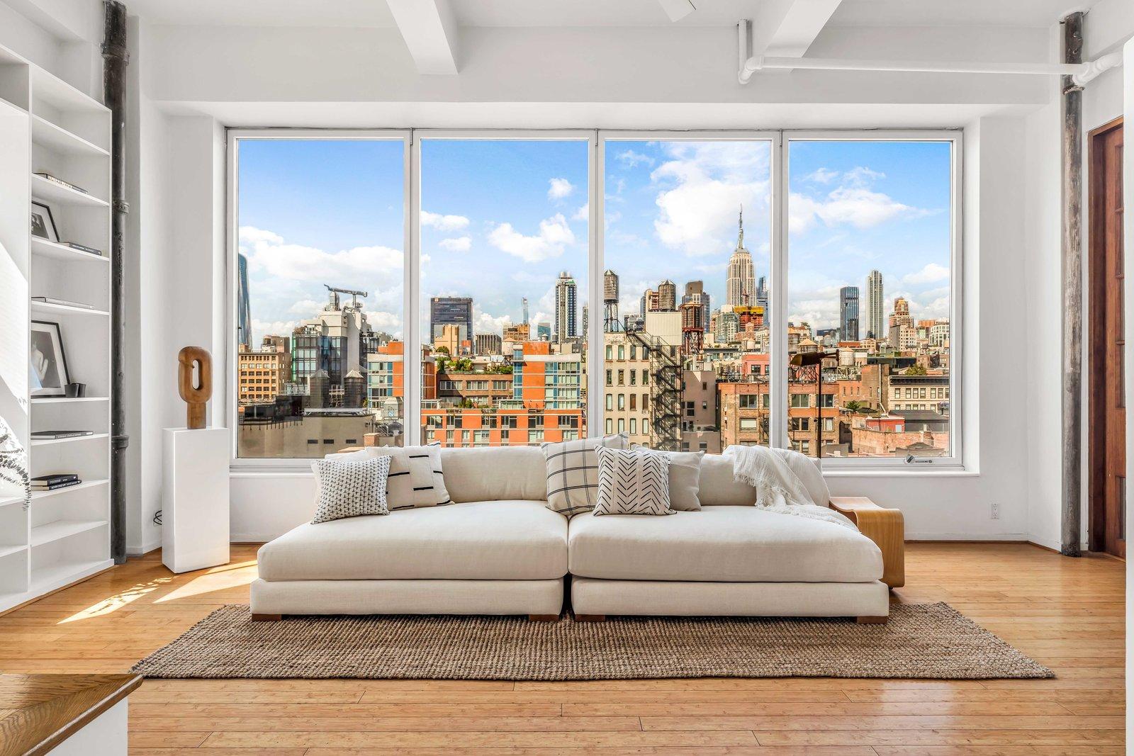 Lounge in Susan Sarandon's Chelsea Duplex Loft
