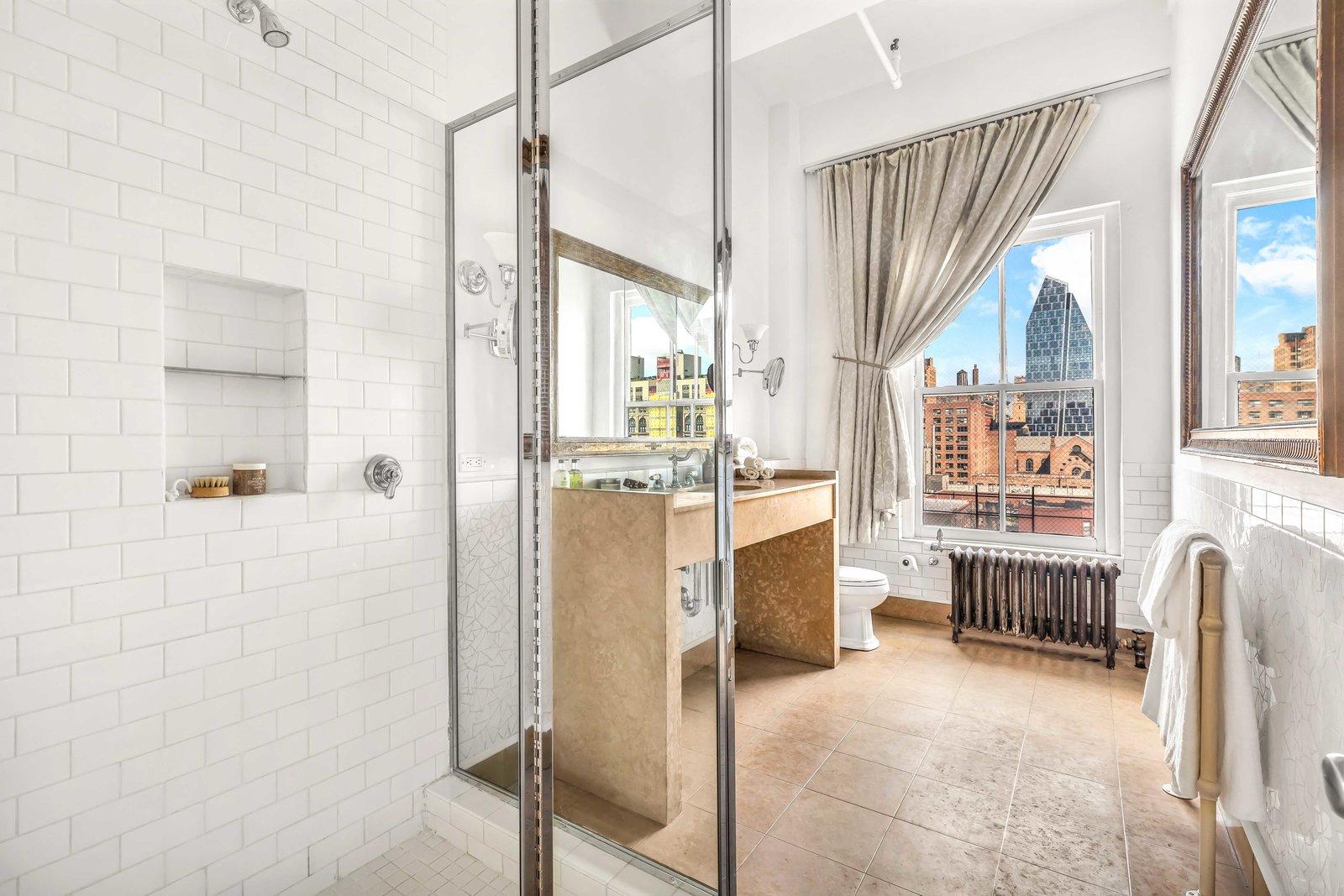 Bathroom in Susan Sarandon's Chelsea Duplex Loft