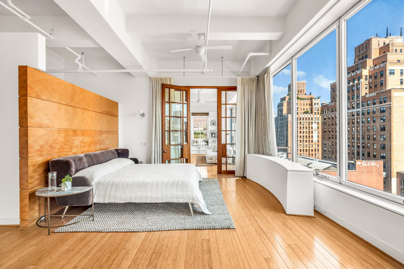 Bedroom in Susan Sarandon's Chelsea Duplex Loft