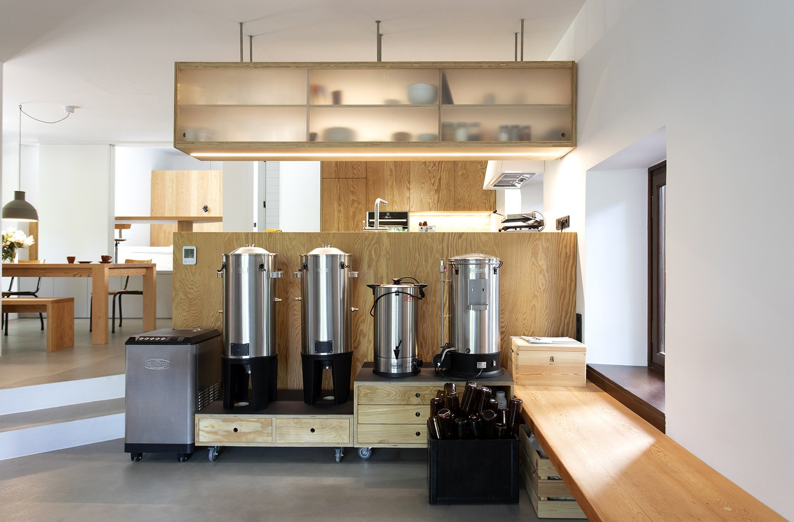 Ioannis Exarchou Architecture Athens apartment renovation Home Brewery