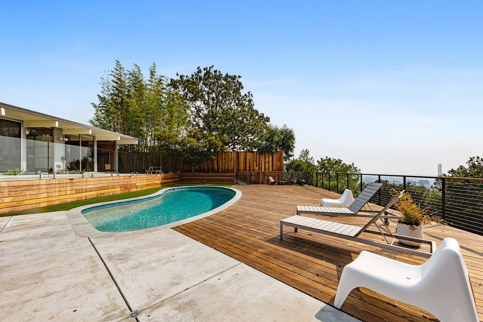 A. Quincy Jones Eichler Bay Area Real Estate solar heated pool