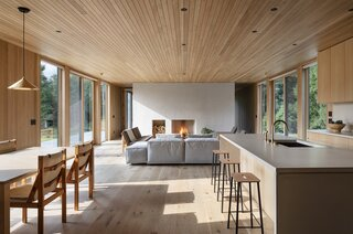 """Birdseye designed the home to be """"as visually quiet as possible,"""" says Mac."""