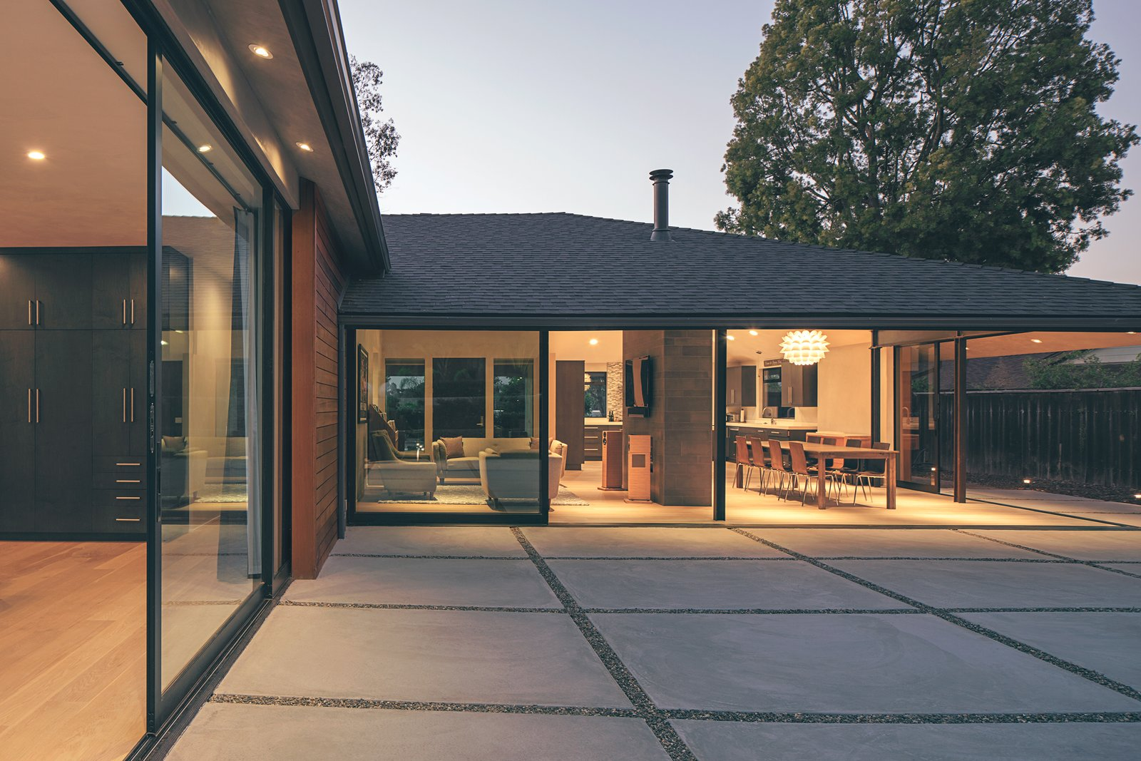 House Building Type, Windows, and Sliding Window Type Indoor-outdoor living exemplified in Santa Barbara.  A Perfect Match