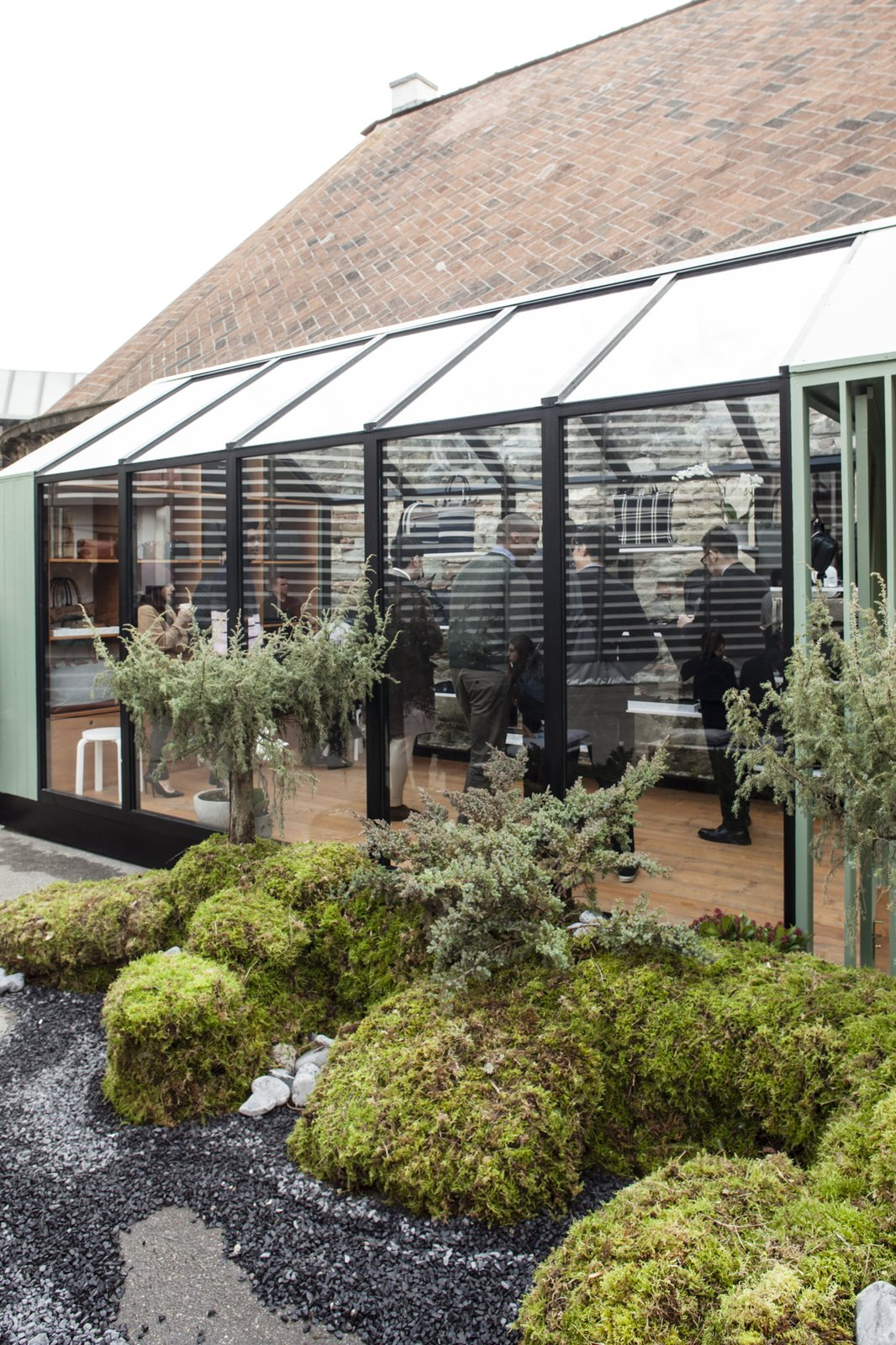 The structure's minimalist shape and  Photo 4 of 8 in The Alpine Lodge by WANT Les Essentiels de la Vie