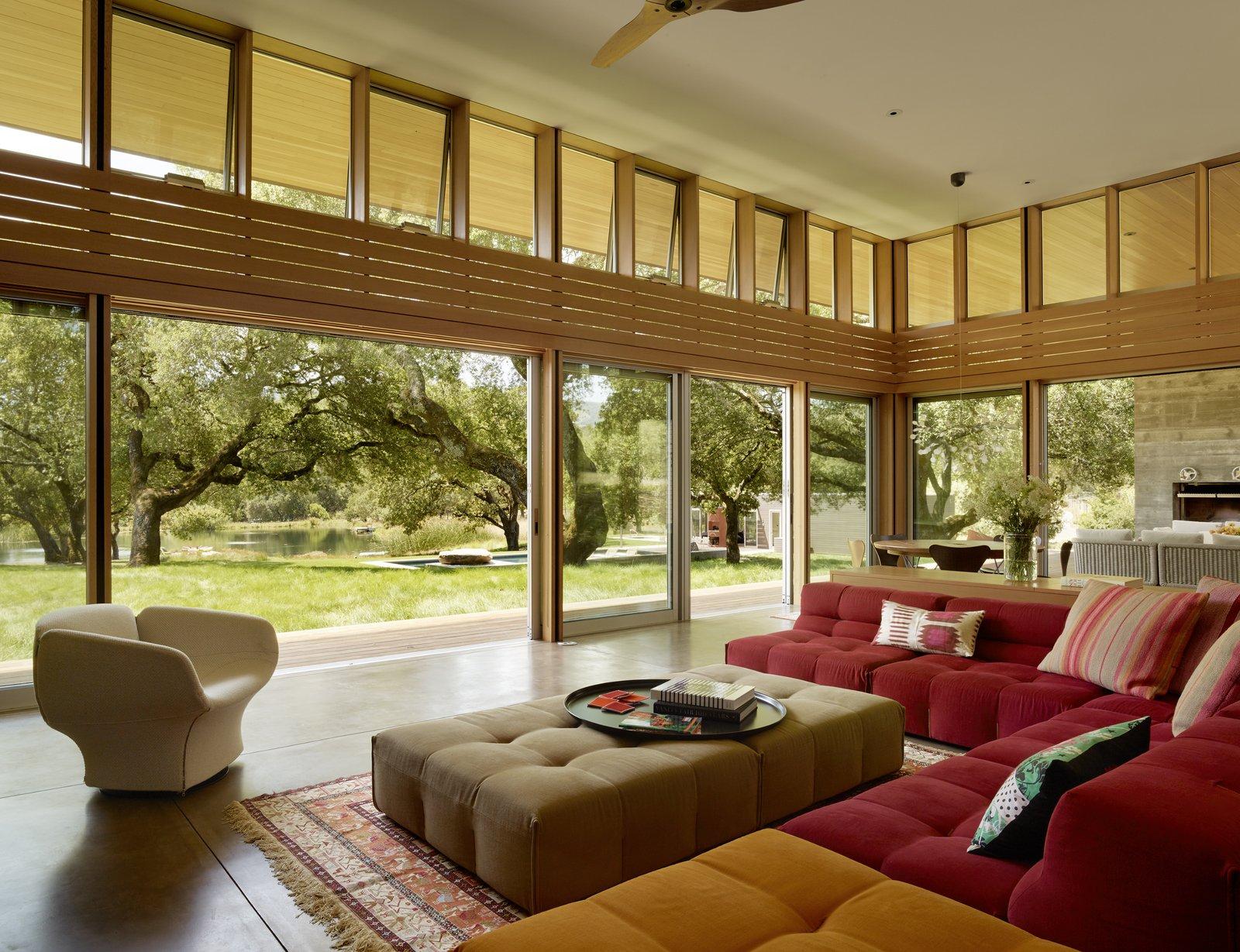 #TurnbullGriffinHaesloop #interior #livingroom #window #landscape  Sonoma Residence by Turnbull Griffin Haesloop Architects